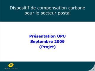 Dispositif de compensation carbone pour le secteur postal