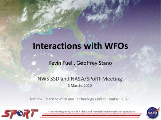 Interactions with WFOs
