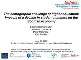 "The ""demographic challenge"" for HEIs"