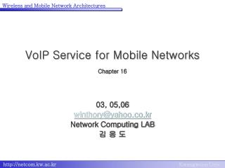 VoIP Service for Mobile Networks