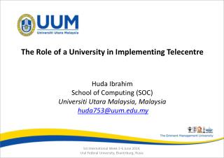 The Role of a University in Implementing Telecentre