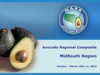 Avocado Regional Composite MidSouth Region January – March: 2011 vs. 2012