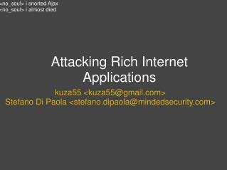 Attacking Rich Internet Applications