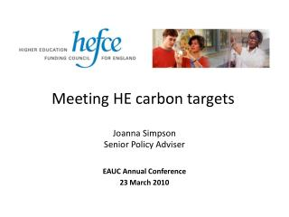 Meeting HE carbon targets