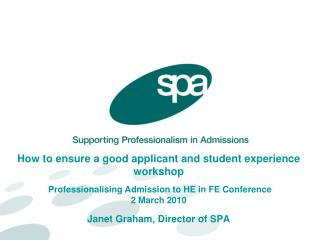 How to ensure a good applicant and student experience