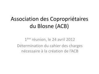 Association des Copropriétaires du Blosne (ACB)