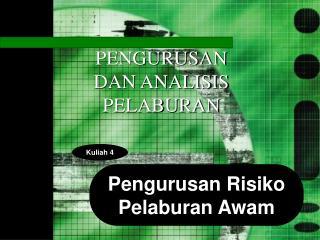 Pengurusan Risiko Pelaburan Awam