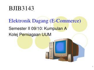 Elektronik Dagang (E-Commerce)