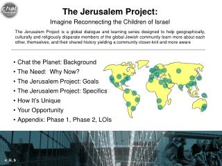 The Jerusalem Project: Imagine Reconnecting the Children of Israel