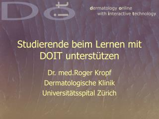 Studierende beim Lernen mit DOIT unterstützen