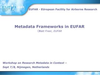 Workshop on Research Metadata in Context –  Sept 7/8, Nijmegen, Netherlands