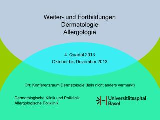 Weiter- und Fortbildungen Dermatologie Allergologie