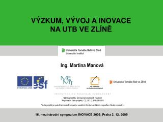 Ing. Martina Manová