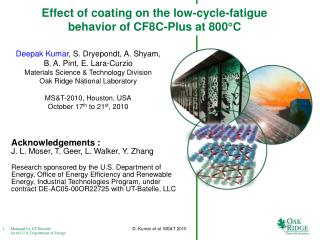 Effect of coating on the low-cycle-fatigue behavior of CF8C-Plus at 800 C