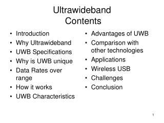 Ultrawideband   Contents