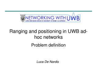 Ranging and positioning in UWB ad-hoc networks