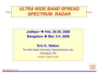 ULTRA WIDE BAND SPREAD SPECTRUM  RADAR