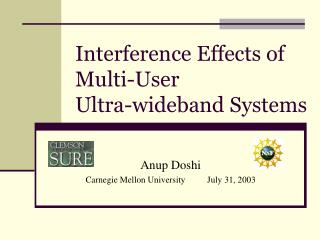 Interference Effects of Multi-User  Ultra-wideband Systems