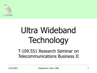 Ultra Wideband Technology