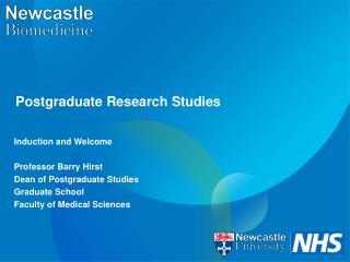 Postgraduate Research Studies