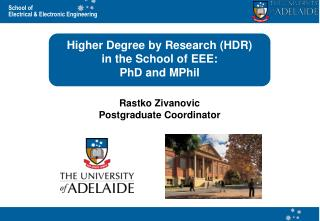 Higher Degree by Research (HDR) in the School of EEE: PhD and MPhil