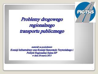 Wdrażanie ustawy o PTZ przez JST w zakresie drogowych przewozów osób