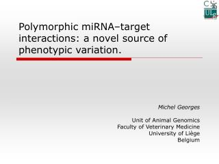 Polymorphic miRNA–target interactions: a novel source of phenotypic variation.