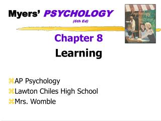 Myers�  PSYCHOLOGY (6th Ed)