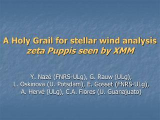 A Holy Grail for stellar wind analysis   zeta Puppis seen by XMM