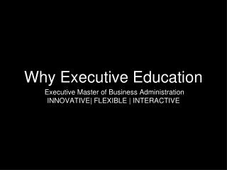 Why Executive Education