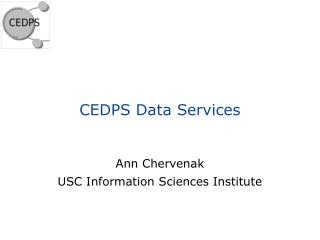 CEDPS Data Services