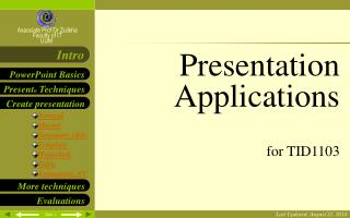 Presentation Applications for TID1103