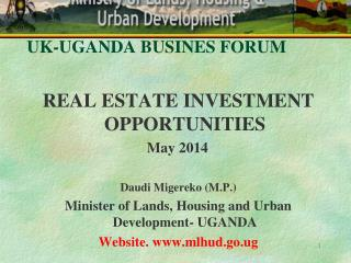 UK-UGANDA BUSINES FORUM