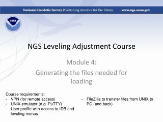 NGS Leveling Adjustment Course