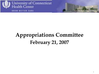 Appropriations Committee February 21, 2007