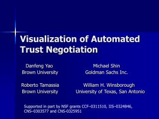 Visualization of Automated Trust Negotiation