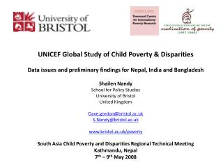 UNICEF Global Study of Child Poverty & Disparities
