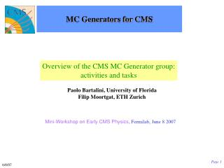MC Generators for CMS