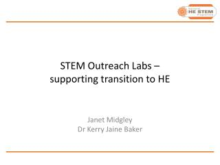 STEM Outreach Labs – supporting transition to HE