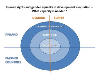 Human rights and gender equality in development evaluation – What capacity is needed?