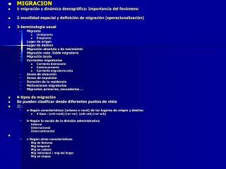 MIGRACION 1-migración y dinámica demográfica: Importancia del fenómeno