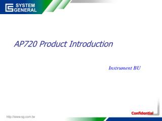 AP720 Product Introduction