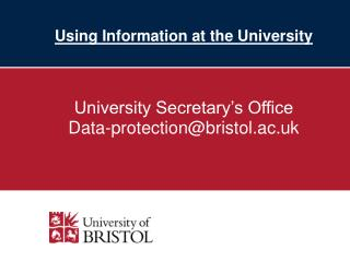 Using Information at the University