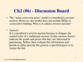 Ch2 (#6) - Discussion Board