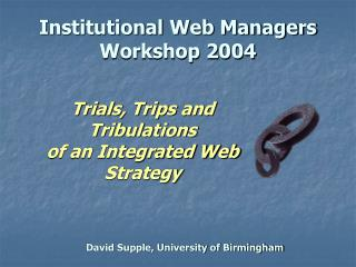 David Supple, University of Birmingham