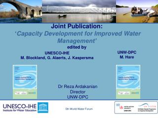 Joint Publication:  ' Capacity Development for Improved Water Management' edited by