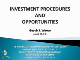 INVESTMENT PROCEDURES  AND  OPPORTUNITIES