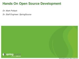 Hands On Open Source Development