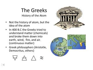 The Greeks History of the Atom