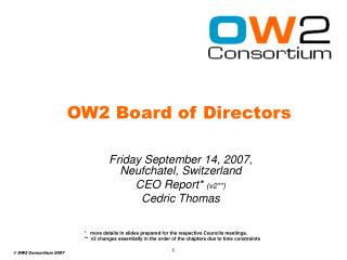 OW2 Board of Directors